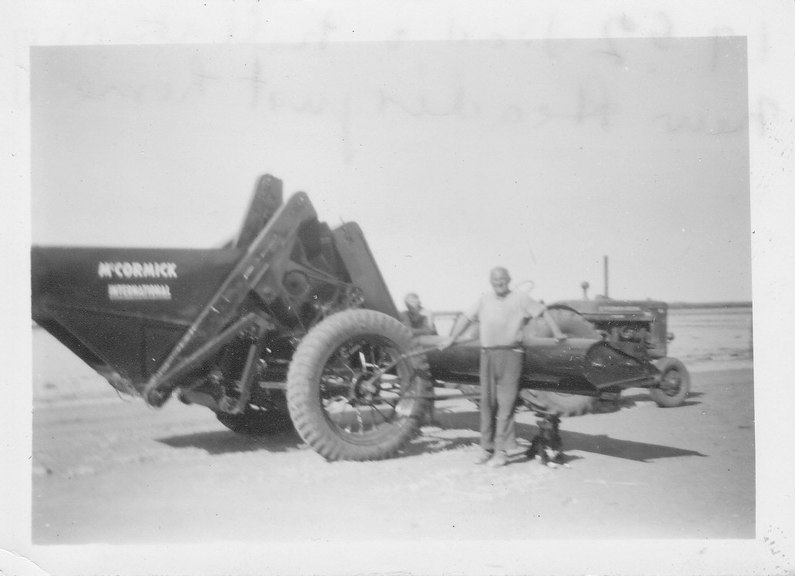 Faulkner collection: Harry Faulkner with new McCormick International Header