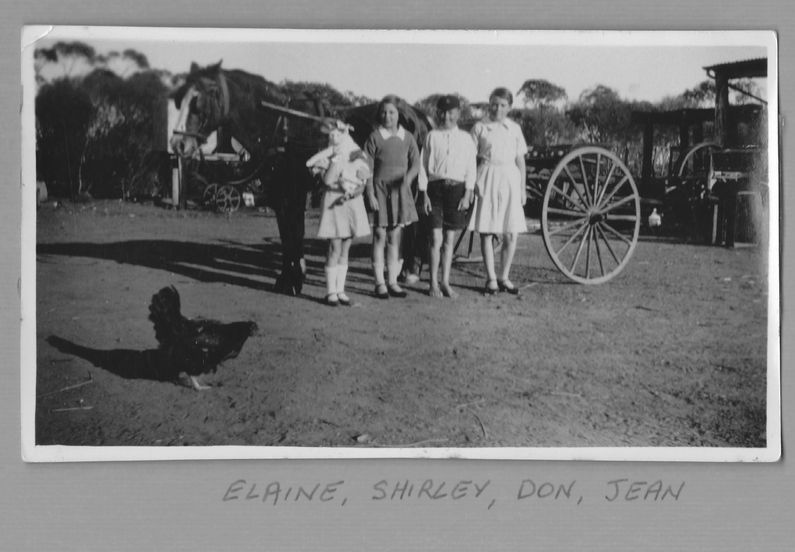 Elaine Shirley Don Jean and cart