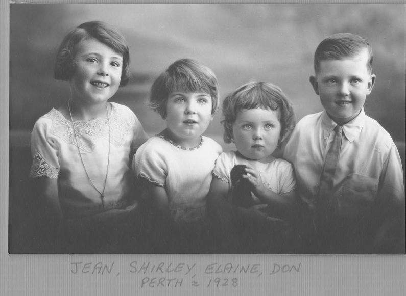 Jean, Shirley, Elaine and Don, 1928